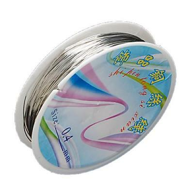 Roll Silver Plated Copper Wire 26ga/20yd for DIY Jewelry Making Findings