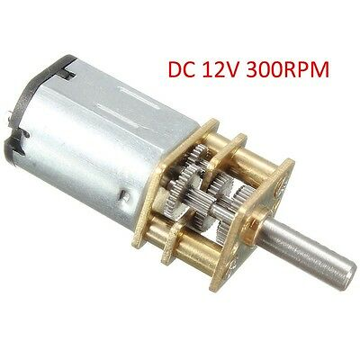 12V 300RPM Micro Mini Metal Gearmotor High Power Torque DC Gear Motor Gearwheel