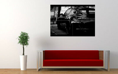 """BLACK PORSCHE GT3 RS NEW GIANT LARGE ART PRINT POSTER PICTURE WALL 33.1""""x23.4"""""""