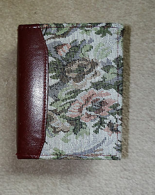 Cream Brown Pink Floral Flower Tapestry Photo Album Brag Book for 4x6 photos