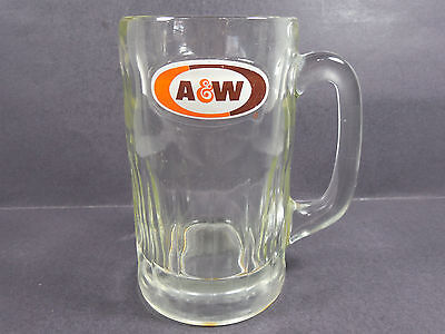 """Vintage A & W Root Beer Heavy Glass Mug 6"""" Tall"""