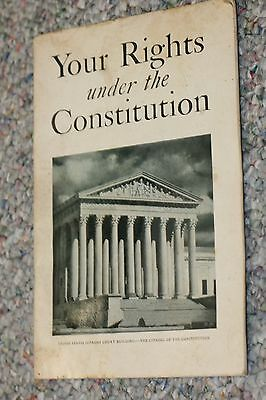 U.s. Flag Association Your Rights Under The Constitution 1935 Paper James Moss