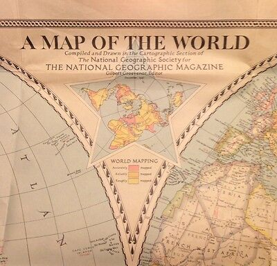 The National Geographic Society 1941 Map Of World