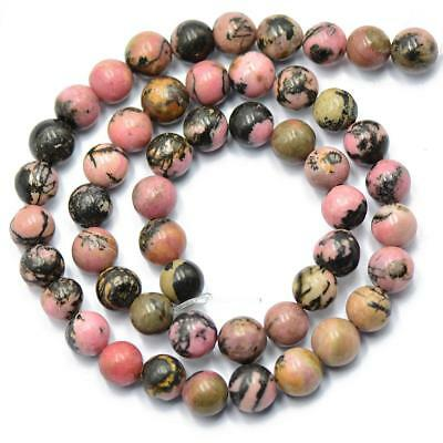 8mm Vintage Pink Rhodonite Jewelry Making Spacer Loose Beads Strand 15''