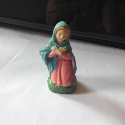 1940s Composition Nativity Figurine Virgin Mary Italy Marked