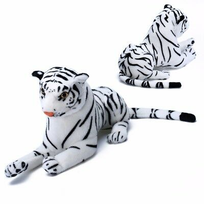 Large Tiger Plush Animal Realistic Big White Tiger Hairy Soft Stuffed Toy Pillow