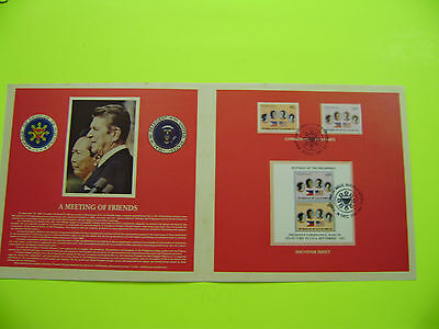 Philippines Stamp Memorabilia 1982 President Marcos' State Visit To The U.s.a.