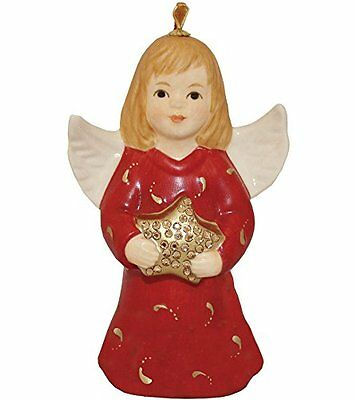 2016 - 40th Anniversary Goebel Annual Angel Bell Commemorative Edition-Ruby Red
