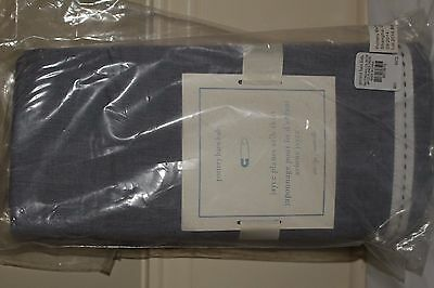 NWT Pottery Barn Kids Jace Planes crib skirt blue