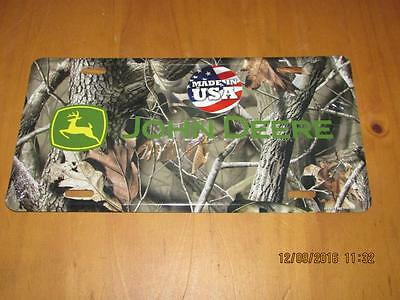 John Deere Tree Camouflage licence plate,new,free shipping.