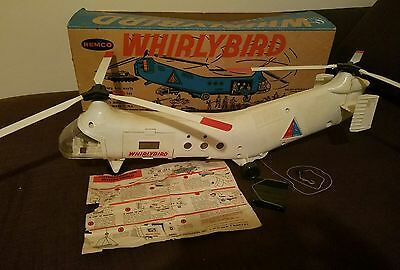 Remco Industries, Whirlybird Helicopter, White, With Box/Intructions 1960's