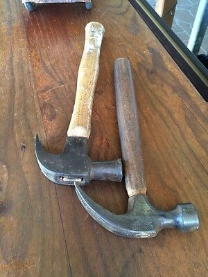 2 Vintage Quality Claw Hammers. One Is Marked Drop Forged Japan