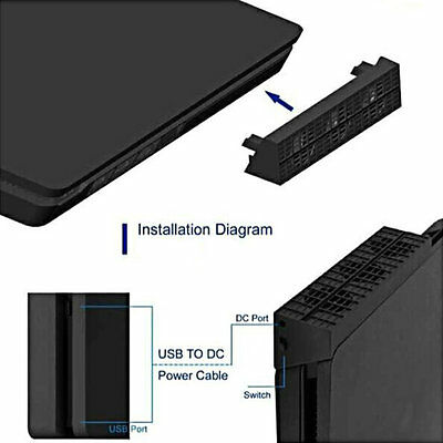 Cooling Fan Heat Exhauster Coolingpad Temperature Control for PS4 Slim OK