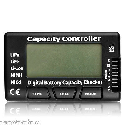 Pro Digital Battery Capacity Voltage Checker for LiPo Li-ion NiMH Battery AU