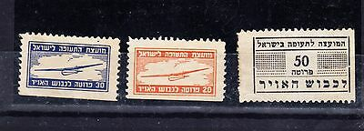 """*WOW* 3 Judaica Israel Old Labels- Stamp """"Aviation Council Airplane"""", *,"""