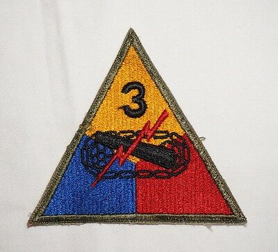 3rd Armored Division Patch WWII US Army P2095