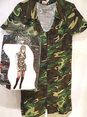 GI Gal Dress Camo Army Camouflage Costume Double sides Zip Woman X Large