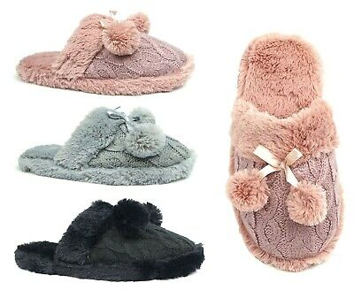 LOT Of 36 Men's House Slipper Classic Suede Clog Slipper Faux Fur Warm-0250