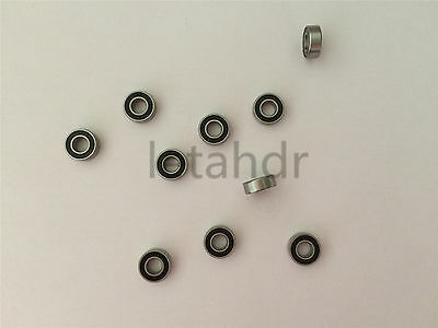 10/20/50 pc Miniature MR Series MR63-2RS To MR148-2RS Rubber Seal Ball Bearing