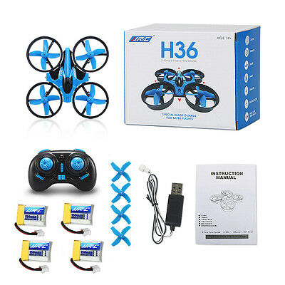 JJRC H36 Mini 2.4G 6-axis Gyro Headless Quadcopter RTF RC Drone+ 3 Extra Battery