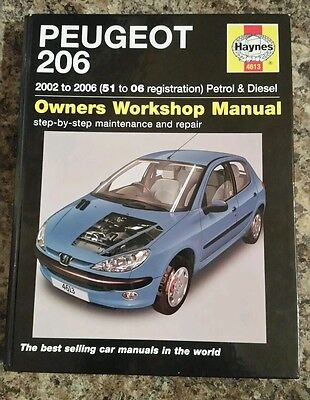 Peugeot 206 Haynes Manual 02-06 Petrol & Diesel no.4613.