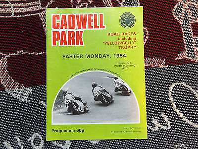 1984 Cadwell Park Programme - Easter Monday Yellowbelly Trophy Road Races