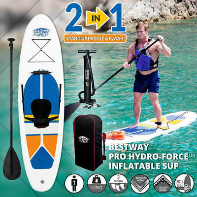 3M Bestway Inflatable Stand Up Paddle Board & Kayak SUP Surfboard Pump Brand New