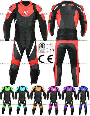 MOTROX Motorbike Motorcycle Leather Suit 100% Real Leather CE Approved Armors