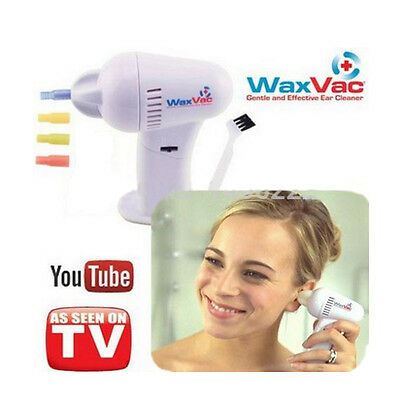 Ear Waxvac Cleaner Wax Remover Electric New Soft Safety Cordless Earpick Seen Tv