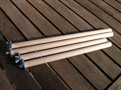 """Qty 4 - 10"""" and 12"""" long x 18mm(dia) Wooden Perch / Branch for parrots / Animals"""