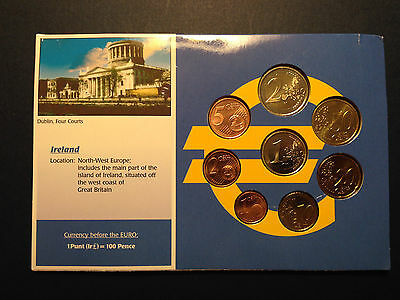Official 1999-2002 IRELAND 8 Coin Uncirculated Euro Sealed, Limited Edition