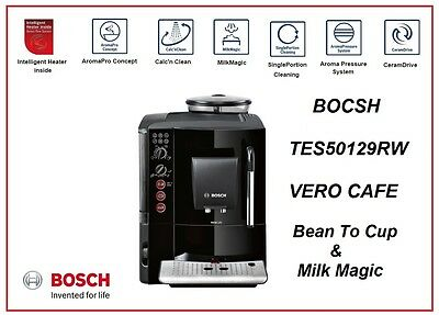 BDBosch VeroCafe TES50129RW Fully Automatic Bean2Cup CoffeeMachine &MilkFrother
