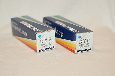 Lot of two (2) DYP Sylvania Projector Lamps Bulbs - 600W, 120V - NOS