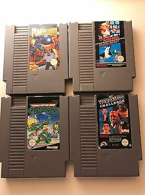 Nentendo Entertainment System NES Console Complete - With 4 Games Turtles/Mario