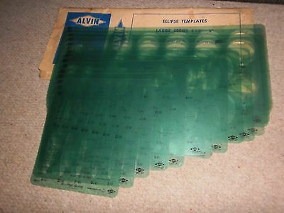 Vintage Alvin Lietz Ellipse Tecnical Drawing Templates See Photo's