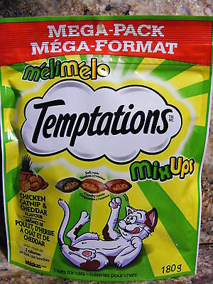 TEMPTATIONS CHICKEN CATNIP & CHEDDAR FLAVOUR -  MEGA Pack - 12 Packages