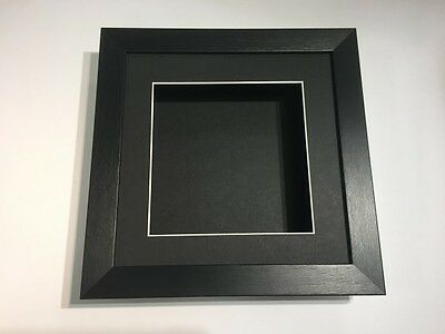 10 x 10 3D Deep Display/Craft/Casting Frame Black -Choose from 6 mount colours