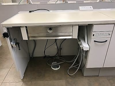Kavo EWL Lab Bench W/ABSORmatic, Kavo Handpiece Delivery, Solid Surface, Stool