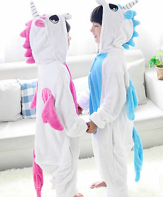 Kids Children Pajamas Kigurumi Unisex Cosplay Animal Costume Unicorn Onesie