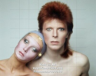 "TWIGGY - DAVID BOWIE - 10"" x 8"" Colour Portrait Photograph 1970's  #3197"
