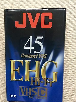 New JVC 45 Compact VHS EHG Camcorder Tape