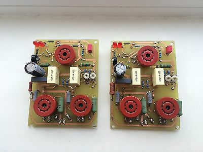 Pair of assembled PCB for Push-pull amplifier with EL84 and E88CC