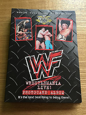 Wwf Wwe Wrestlemania Live Photocard Album - Complete Collection (1999)