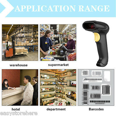Excelvan Bluetooth Wireless USB Laser Barcode Scanner for Shop Market Hotel