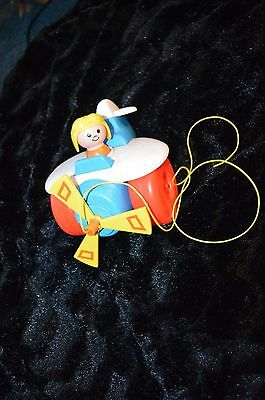 Vintage Fisher Price Airplane Pull Toy 1980