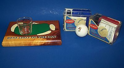 LOT Golf Collectibles Shot Glass Mickey Mouse Ball Marker Vintage Junk Drawer
