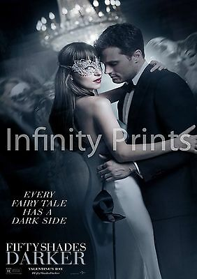 Fifty Shades Darker Movie Film Poster A A3 A4