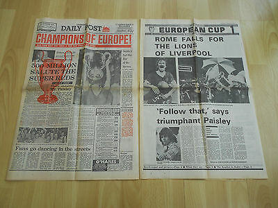Liverpool Daily Post Newspaper May 26, 1977 CHAMPIONS OF EUROPE L Football Club