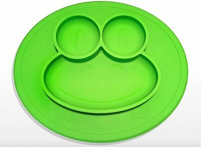 Happy Frog Mat Silicone Placemat One Piece Mealtime Toddler Kids Green OSABO