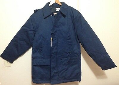 NEW B-34 Navy Blue Hooded Winter Coat Size Men's M Military Style Jacket NWT